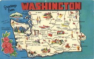 Washington Tourist Map Scenic