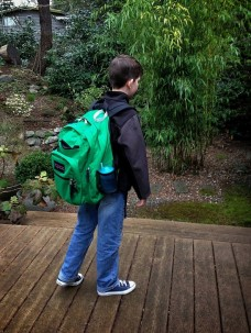 A full backpack at 7:45 am.