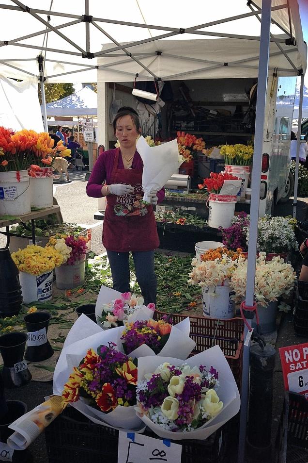 Edmonds Spring Market Flower Vendorl 3