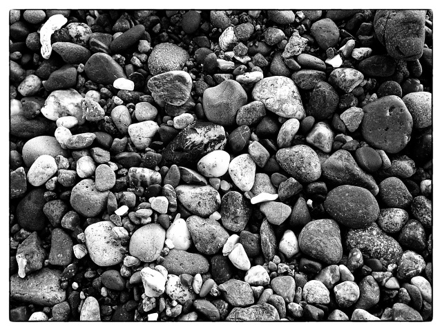 B&W Beach Rocks
