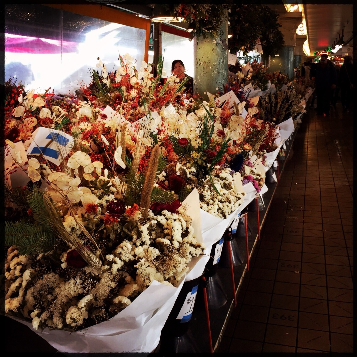 iPhoneography Monday:  Nature (Pike Place Market Flowers in December)