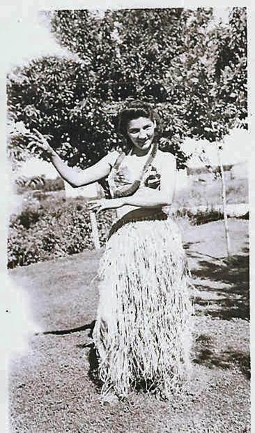 Grandma and her Hula skirt