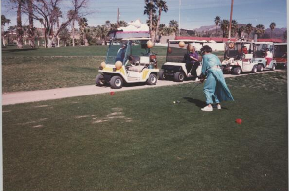 Grandma golfing in Arizona