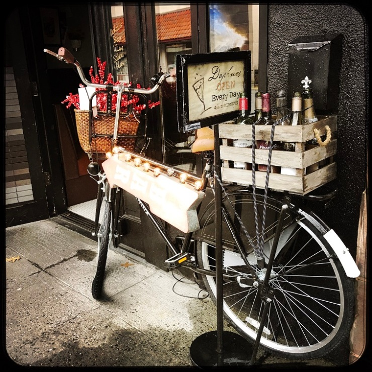 The best kind of bicycle is one filled with wine and flowers!