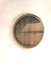 Porthole view on a Washington State Ferry
