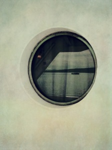 Porthole view on a Washington State Ferry