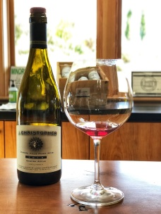 Wine tasting at J. Christopher wines in Oregon wine country