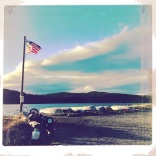 Sunshine, Row Boats and the American Flag