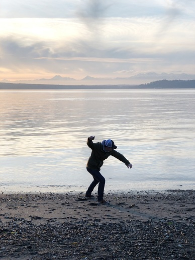 Skipping Rocks in Edmonds WA